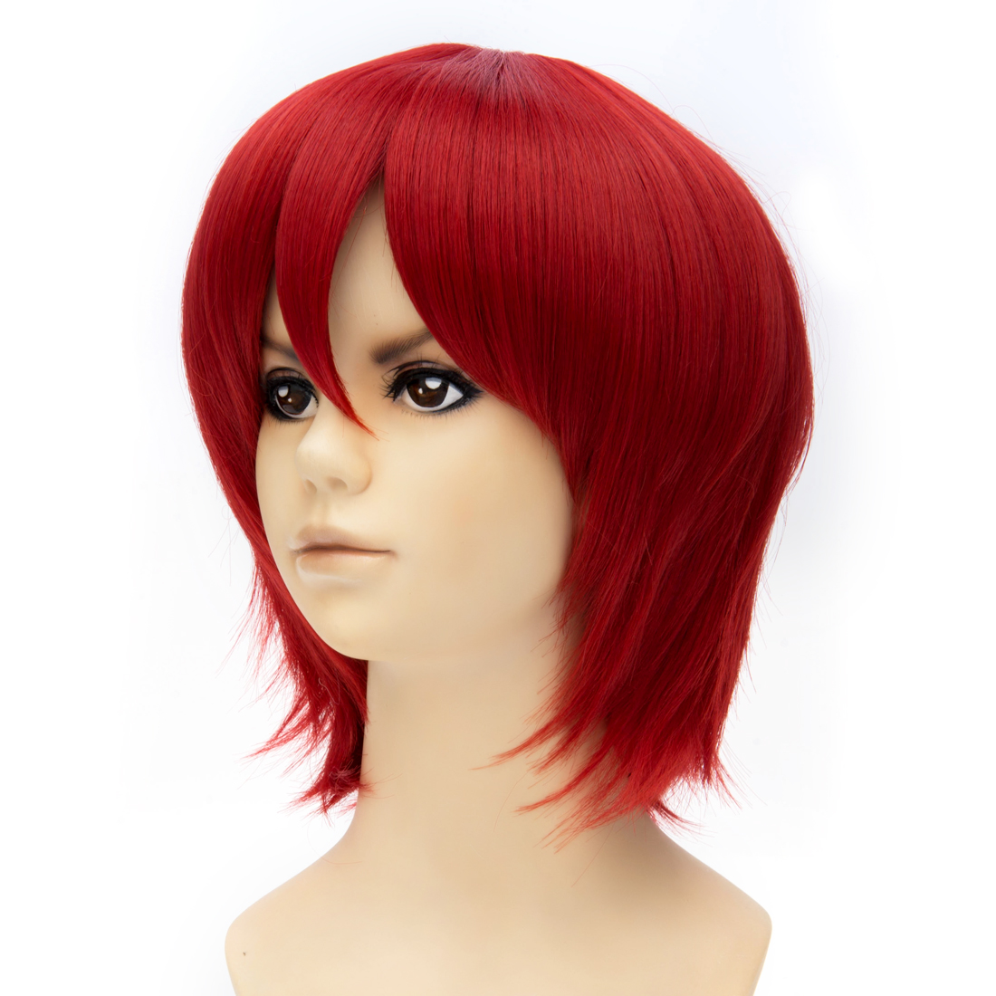 Assassination Classroom Anime Short Synthetic Women Wig Fashion Red Full Wig Womens Lady Cosplay Party(China (Mainland))