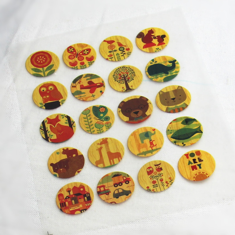 20Pcs Vintage Plant Offset Press Iron-on Patches for Clothing Offset PET Transfer DIY Scrapbooking Materials Patches 2x2cmcm(China (Mainland))