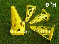 9'' PE Soccer Football Basketball Dog speed agility  training cones/marker,Coaching training equip.,Sport workoutz marking,12pcs