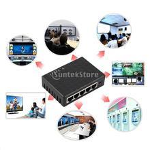 5 Port 10/100Mbps Desktop Gigabit Ethernet Network LAN Power Adapter Switch Hub(China (Mainland))
