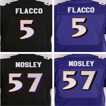 Free shipping Best quality jersey,Men's 5 Joe Flacco cheap 57 C J Mosley Stitched elite jersey,Black,Purple,Size M-XXXL,(China (Mainland))