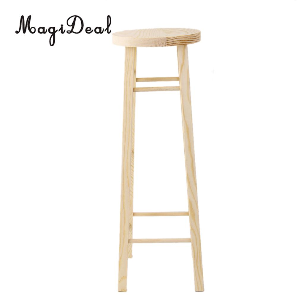 MagiDeal Brand New 1Pc Hair Stand Wooden Stick Supporter HIgh Stool H35.5cm for 1/3 SD BJD Doll House Room Decor Furniture Toy