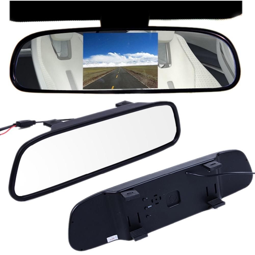 2015 New  4.3 Inch TFT Car Monitor Mirror Car Auto LCD Screen Monitor View Rearview Backup Camera for Car Reversing Record(China (Mainland))