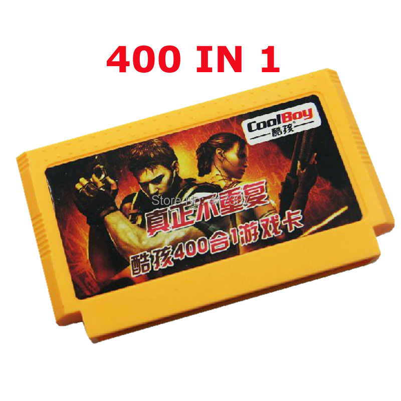 Hot Sell 400 games in 1 cartridge 8 Bit Big Yellow Card For Red & White Game Player(China (Mainland))