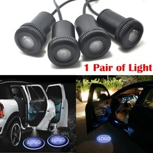 2pcsX 4th Gen Ghost Shadow Light Welcome Laser Projector Lights LED Car Logo Courtesy Lights Door light(China (Mainland))