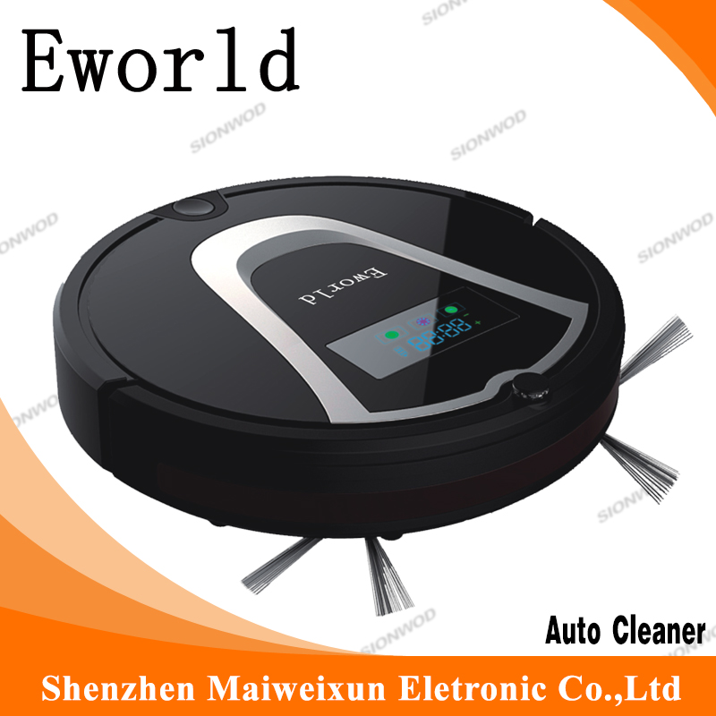 Eworld 35W Vacuum cleaner with Charging dock and Remote controller , Suction type sweeper robots,Noise Level Less 50 DB(China (Mainland))