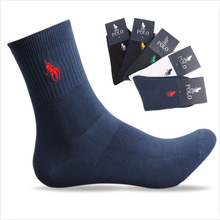 5pairs/lot High Quality Fashion Brand Polo Men Socks Cotton Embroidery Sport Casual Socks Calcetines Hombre Marcas 5 Color(China (Mainland))