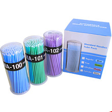 wholesale Eyelash Extension Disposable Micro Application Removal Cotton Swab False Lashes Cotton Stick 1000packs free shipping(China (Mainland))