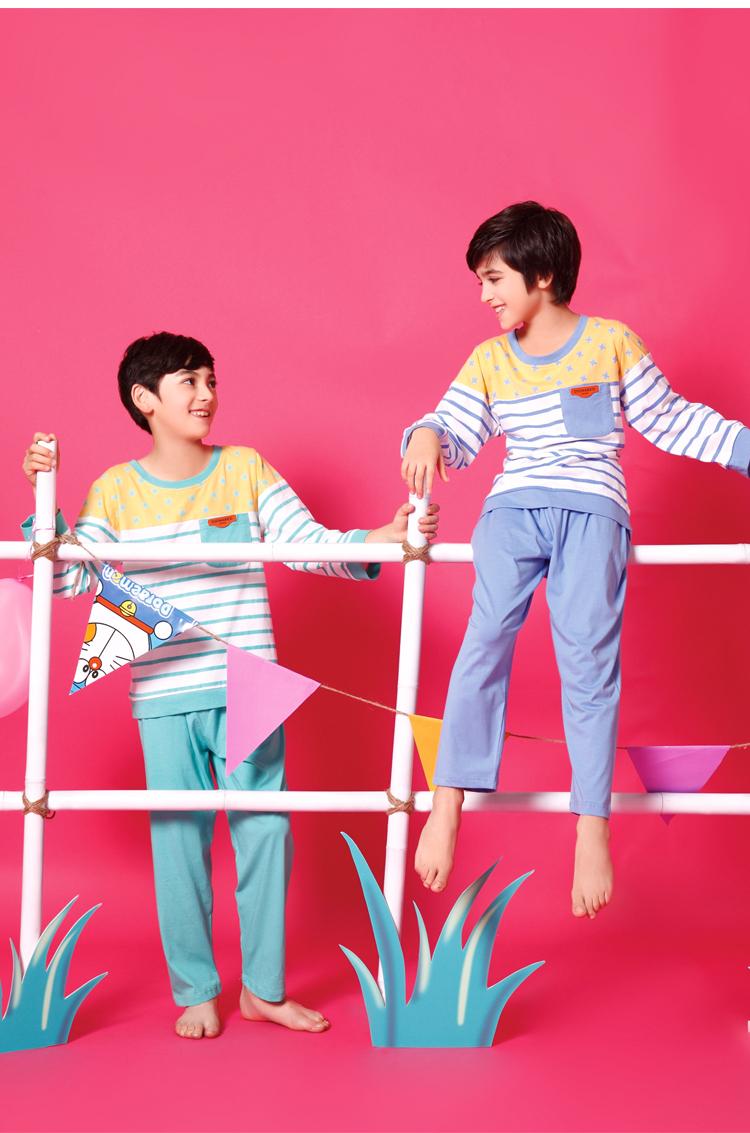Buy BOYS PAJAMAS new 2015 summer spring design blue green stripe ...