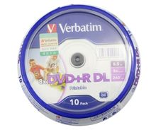 10 pack Verbatim balnk printable DVD R DL 8X Dual Layer 10 Discs DVD+R dl 8.5GB(China (Mainland))