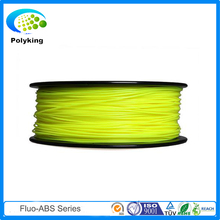 Fluorescent yellow 1.75mm abs filament extruder for makerbot/solidoodle/Afinia/Utilmaker makerbot 3d printer