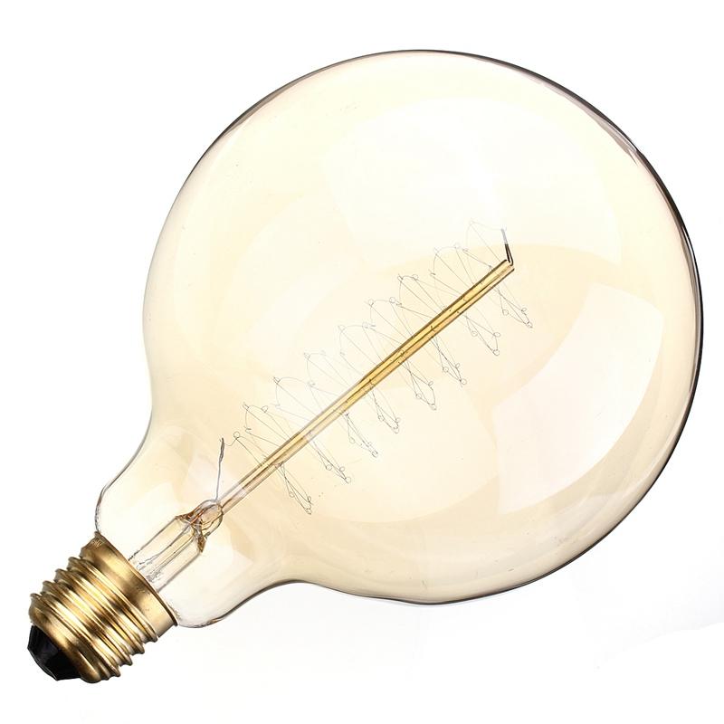 Wholesale Price Beautiful Design E27 G125 60W 110/220V Filament Light Bulb Vintage Retro Antique Style Lam(China (Mainland))