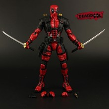 2016 NEW hot ! 16cm Super hero Justice league X-MAN Deadpool action figure toys Christmas toy(China (Mainland))