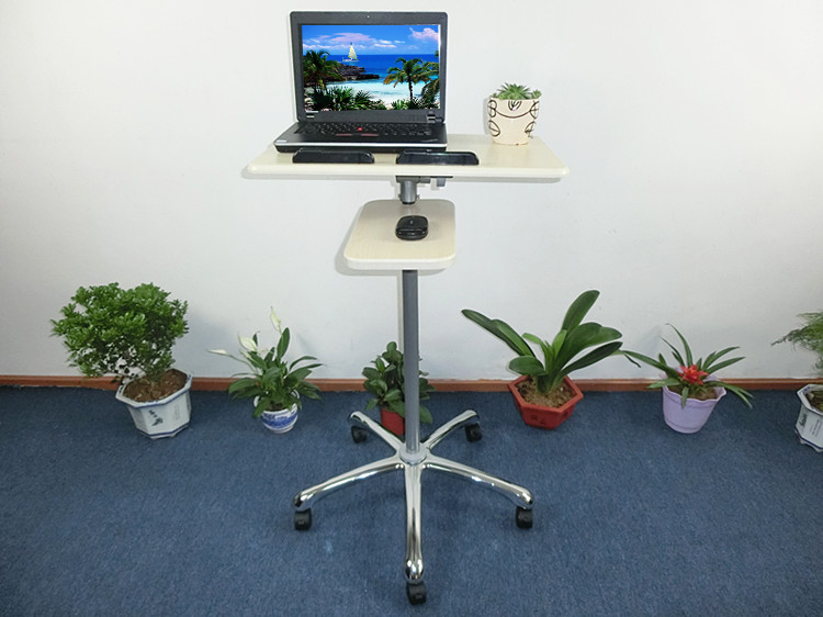 New Design Standing Desk Height Adjustable Wood Made Aluminium Support Modern Healthy Working Necessary In Selling(China (Mainland))