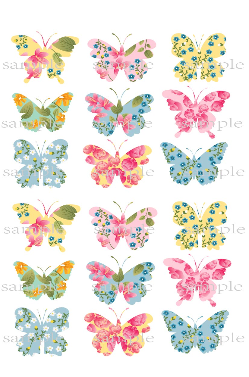 Big Flower Butterfly Edible cake topper wafer rice paper cake decoration Butterfly cupcake topper Wedding cake decor supplier(China (Mainland))