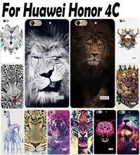 Узоры , нарисованные жесткий пластиковый корпус чехол Huawei чести 4C защитить заднюю крышку для Huawei 4 с мобильного телефона чехол кожи капот корпус