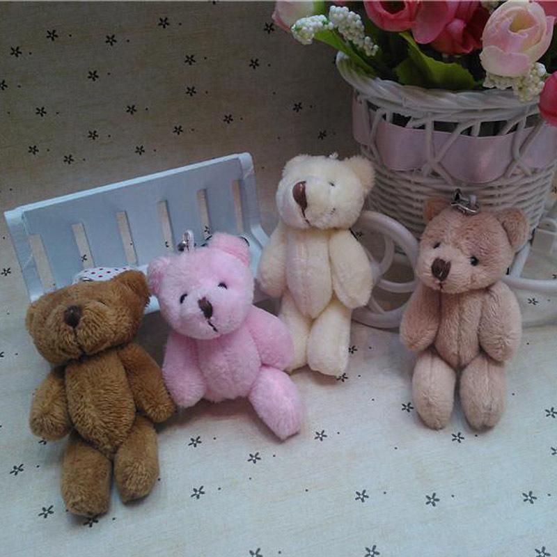 50pcs/lot Mini Joint Teddy Bear plush toys chain gummy bears 8cm animal for Wedding peluches stuffed bicho ursinho de pelucia(China (Mainland))