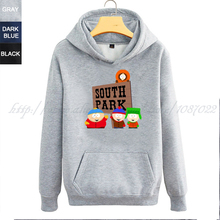 South Park four main protagonists Cartman Kenn Stan Kyle couple clothes woman sports hoodie(China (Mainland))