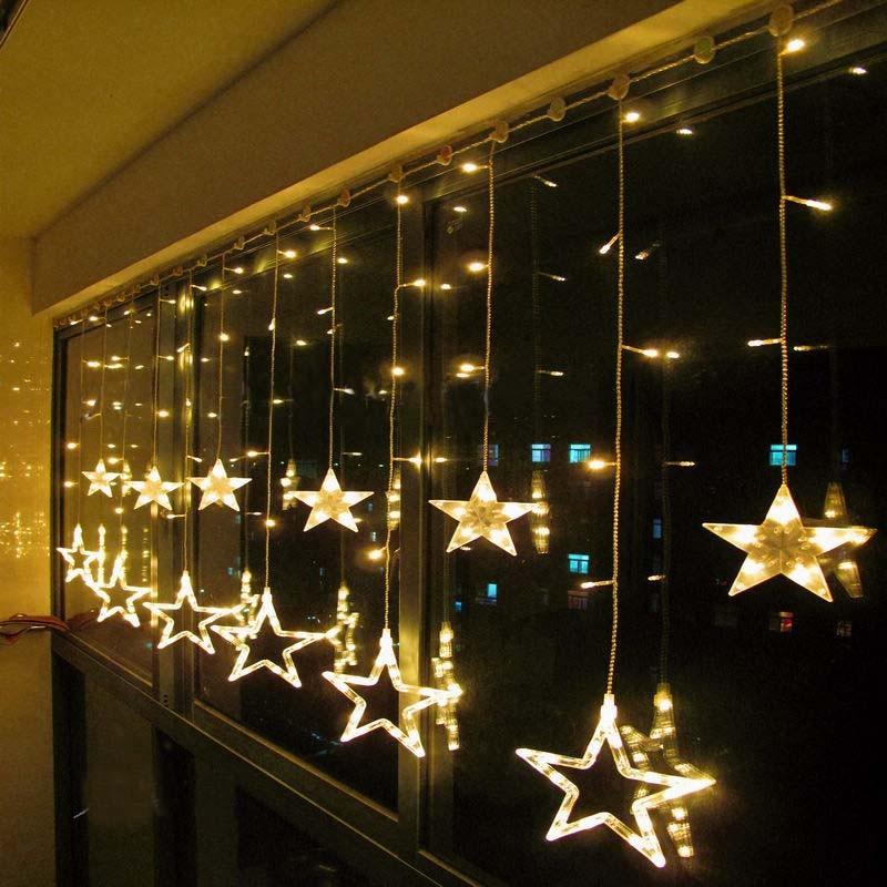 2 x 1m Warm White LED String Curtain LIGHTS Wedding Fairy Decoration Holiday CHRISTMAS Lights 110V/220V EU/US/UK/AU(China (Mainland))