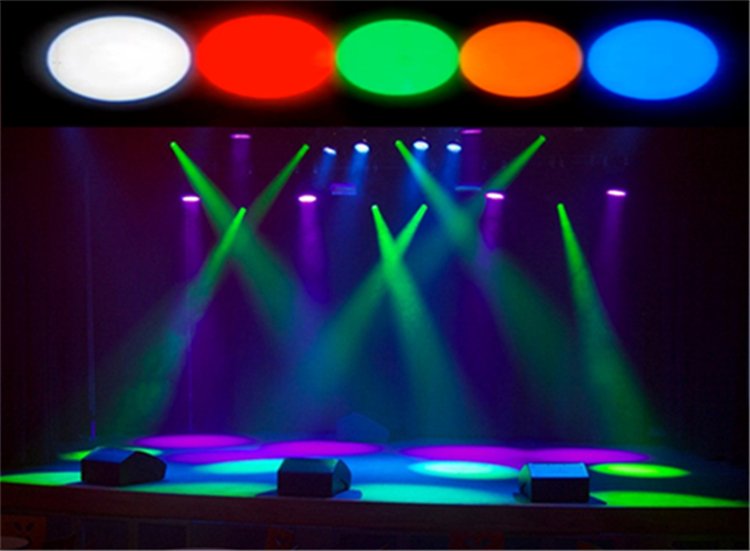Hot mini stage white red green blue yellow color disco beam led pinspot light for dj party mirror ball pin spot light spotlight(China (Mainland))