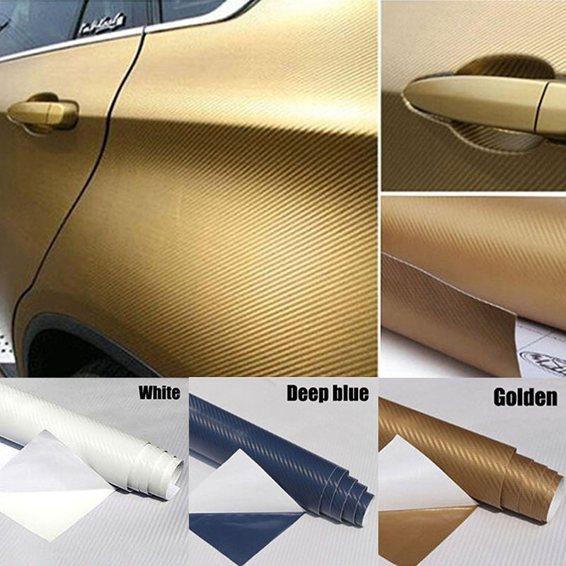 Гаджет  Hot Sales 30x127 3D Carbon Fiber Decal Vinyl Film Wrap Roll Adhesive Car Sticker Sheet None Автомобили и Мотоциклы