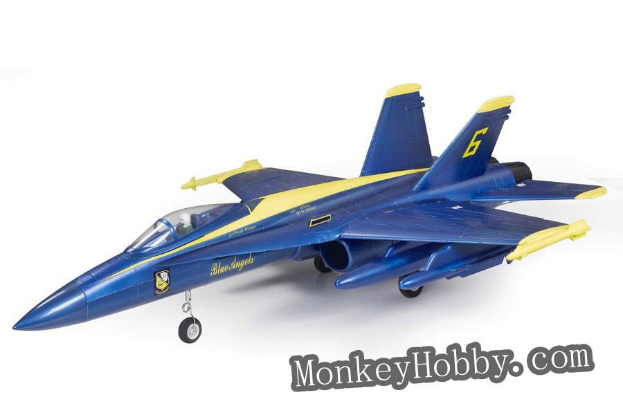 FMS RC plane F18 Hornet 64mm Electric Ducted Fan RTF Jet + 2.4ghz Radio System blue<br><br>Aliexpress