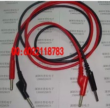 2 PCSRed and black double clamp high voltage test line AA line of high-quality silicone test lead(China (Mainland))