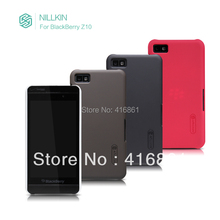 NILLKIN super frosted shield case for BlackBerry Z10 with screen protector + retailed package + free shipping(China (Mainland))