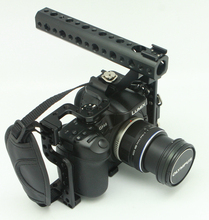 NEW DSLR Camera Cage With Top Handle Hand Grip for Panasonic Lumix GH3 GH4 Camera Rig