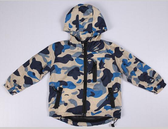 Розничная 1 шт новый мальчиков открытый детский зимний Куртка Пальто одежда новый baby мальчик камуфляж толстые yxf201491717