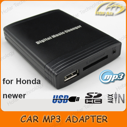 USB SD AUX MP3 Adapter Interface for Honda Accord / Civic / CRV / Element / Fit Jazz / Odyssey / Pilot / S2000(China (Mainland))