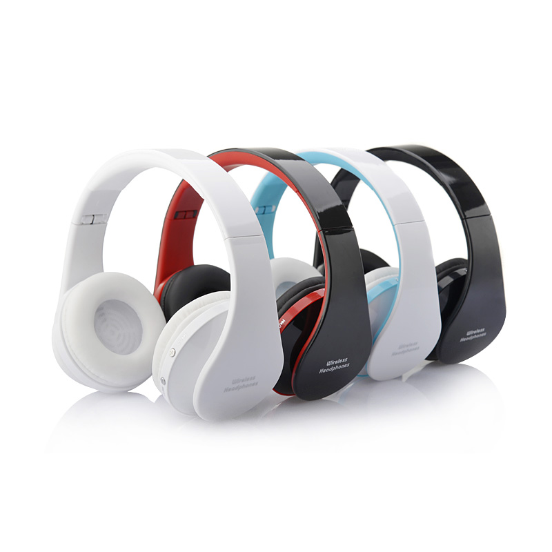 Bluetooth Wireless Stereo Foldable Headset Handsfree Headphones Earphone Earbuds with Mic for iPhone Galaxy HTC