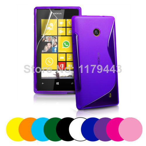 For NOKIA N603 N 603 Classic S-Wave Line Design TPU Gel Silicone Case Cover FREE Screen Protector(China (Mainland))