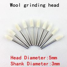 Nuevo 12 fardos / cabeza de pulido herramienta de pulido rectificado de herramientas de acabado de la superficie de montaje Electro-pneumatic rotary 3 * 5 mm