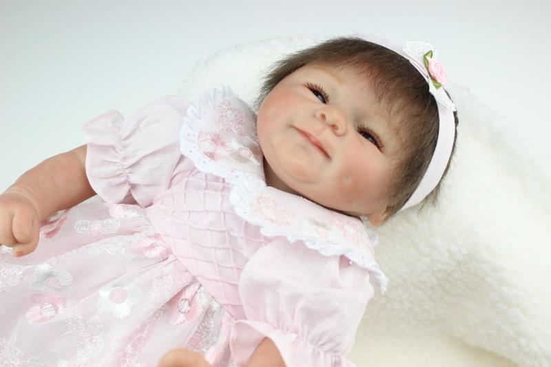 promotions 22 Inch  Reborn Babies Newborn Baby Doll Realistic and Lifelike Reborn Baby Toys the best Children bithday Gifts<br><br>Aliexpress