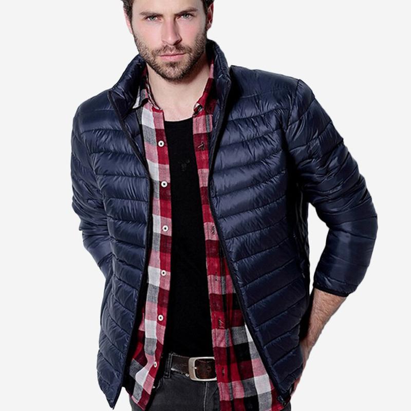 Mens Autumn Winter Duck Down Jacket Men Solid Breathable Jackets Men Outdoors Coats Parka chaqueta hombre Plus Size 3XL()