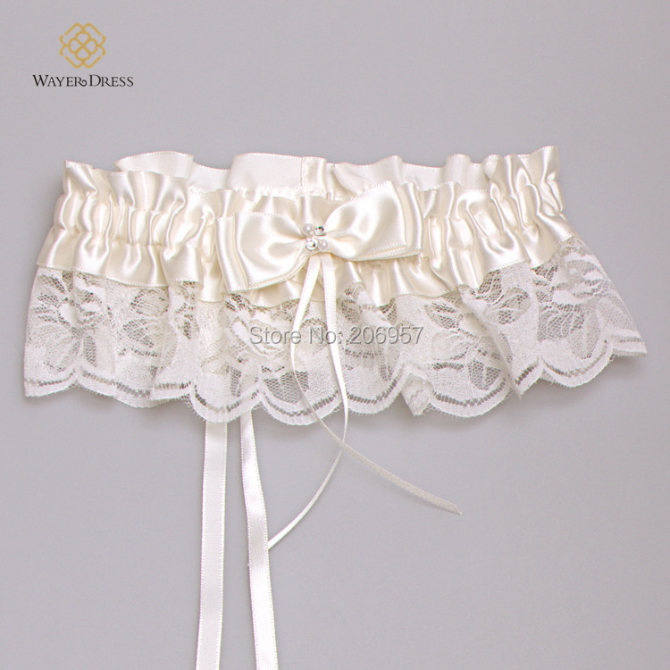 High Quality wedding accessories Lace Garter Lace Ribbon Ivory Bridal Garter Belt Bride Lace Accessories Fashion