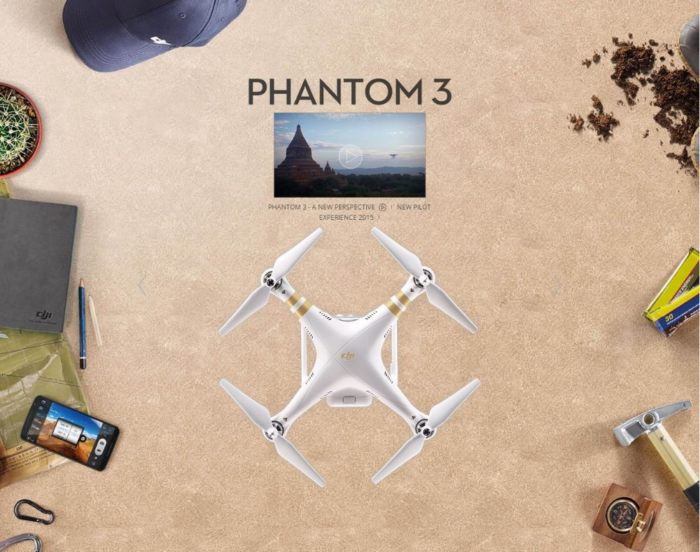 Dji phantom 3 Advanced/Professional FPV Drone with 2 Battery&Hardshell Backpack, Build in 4K camera & GPS system live video