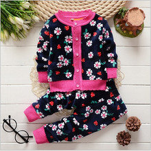 2015 baby girls/boys thick sweater toddler clothes set children clothing sets Kids Autumn winter christmas outfits clothes set(China (Mainland))