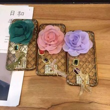 2016 Newest Luxury 3d flower Case phone cases For iphone6 6s/6plus 6splus girls ladys woman camellia plant floral back cover