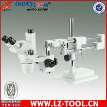 Envío gratis! 6.7X – 45X de doble brazo soporte microscopio estéreo del zumbido