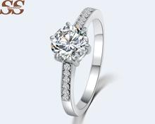 SparShine Prong Setting Bijoux Wedding Ring Anillos Anel Vintage Sapphire Pearl Roxi Ruby Joyas De Plata