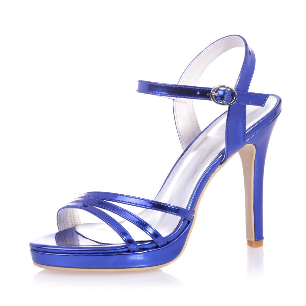 Royal Blue High Heel Sandals