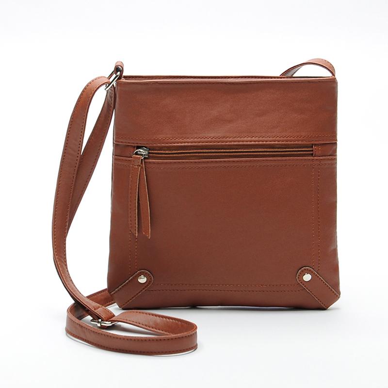 2015 New Fashion Womens PU Leather Satchel Cross Body Shoulder Messenger Bag Handbag 6 Colors Classic Style Freeshipping(China (Mainland))