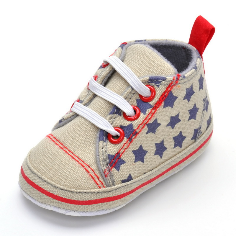 First walkers Canvas baby boys shoes star denim sneakers pram crib shoes autumn style sapato de