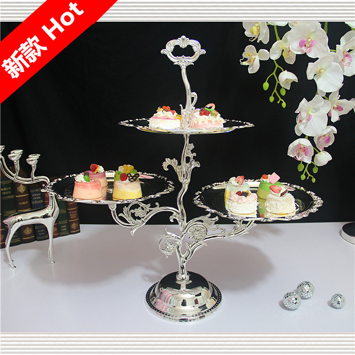 Continental Iron dish fruit dessert cake rack West Point dessert plate metal tray swing sets wedding decoration 3110(China (Mainland))