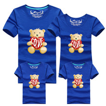 1 Piece Family fitted short-sleeved Family Pack Fashion Family Matching Outfits Cubs T-shirt For mother father Baby 059