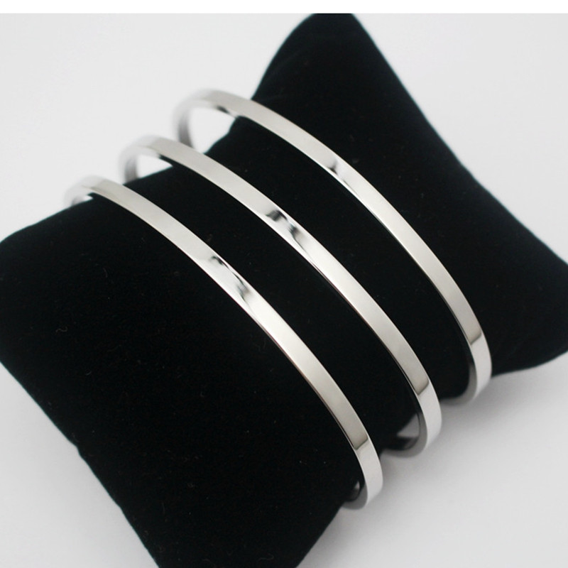 Wholesale Striped Hollow Silver Color Metal Bangle Women Men Stainless steel Jewelry 3 Layer Cuff Bangle 1 Piece Free Shipping(China (Mainland))
