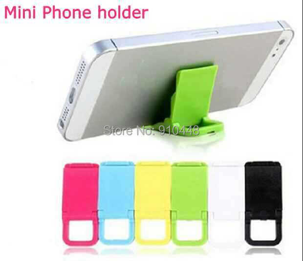 1Colorful mini Universal mobile phone stand holder Mini Desk Station Plastic iphone samsung huawei xiaomi HTC Lenovo - E-Credible Technology Co.,Ltd. store