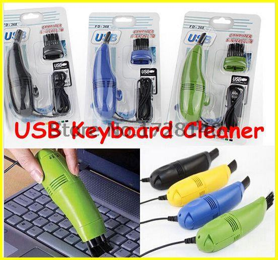 20pcs/lot New 2015 Computer Vacuum Mini USB Keyboard Cleaner Laptop Brush Dust Cleaning Kit,4 colors(China (Mainland))